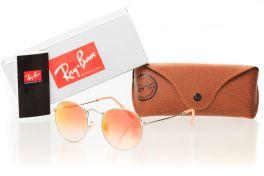 Солнцезащитные очки, Ray Ban Round Metal 3447orange-silver
